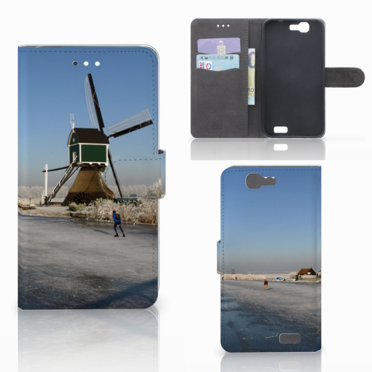 Huawei Ascend G7 Flip Cover Schaatsers