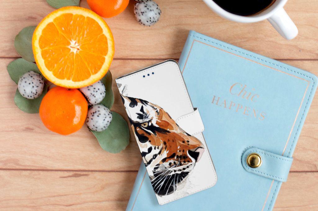 Samsung Galaxy S8 Uniek Boekhoesje Watercolor Tiger