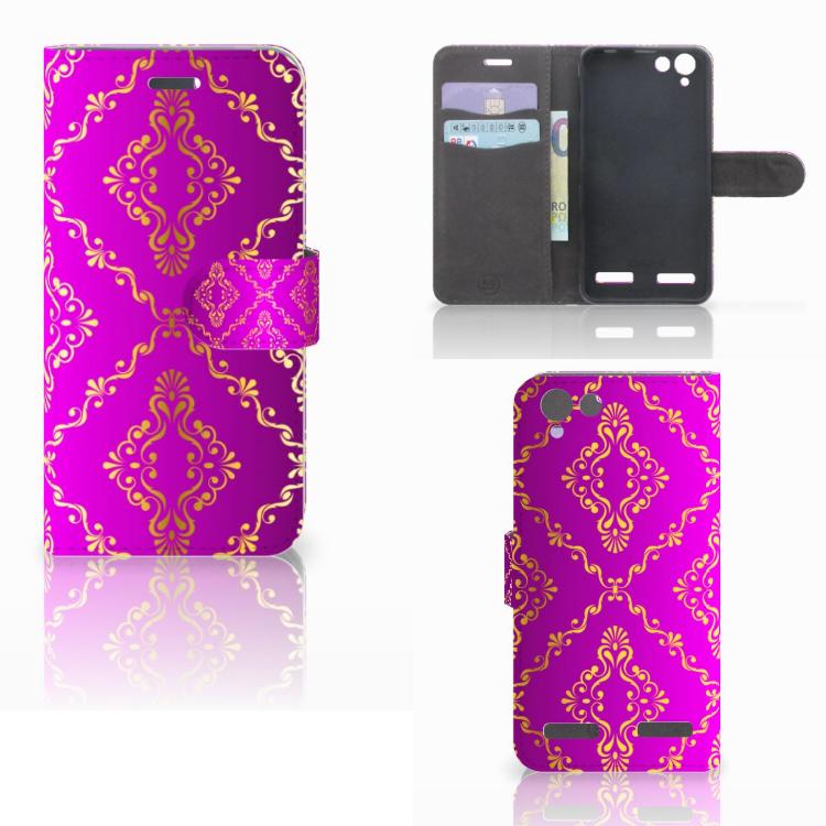Wallet Case Lenovo Vibe K5 Barok Roze