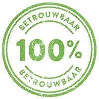 100% betrouwbaar