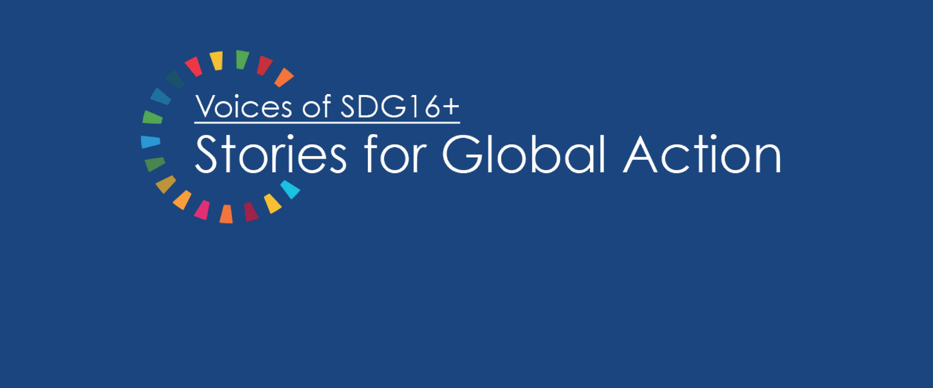 Voices of SDG16+ Stories for Global Action | Peace Insight
