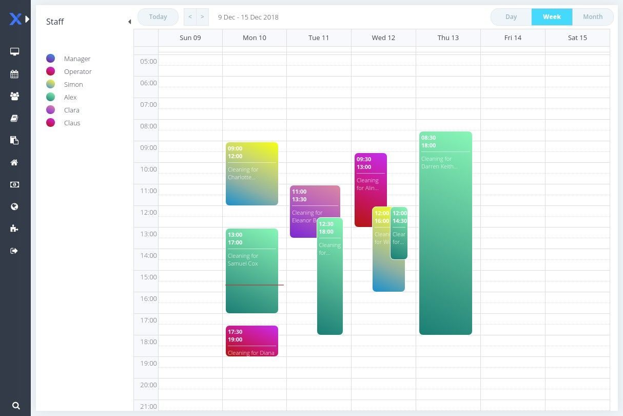 online scheduler for cleaning business