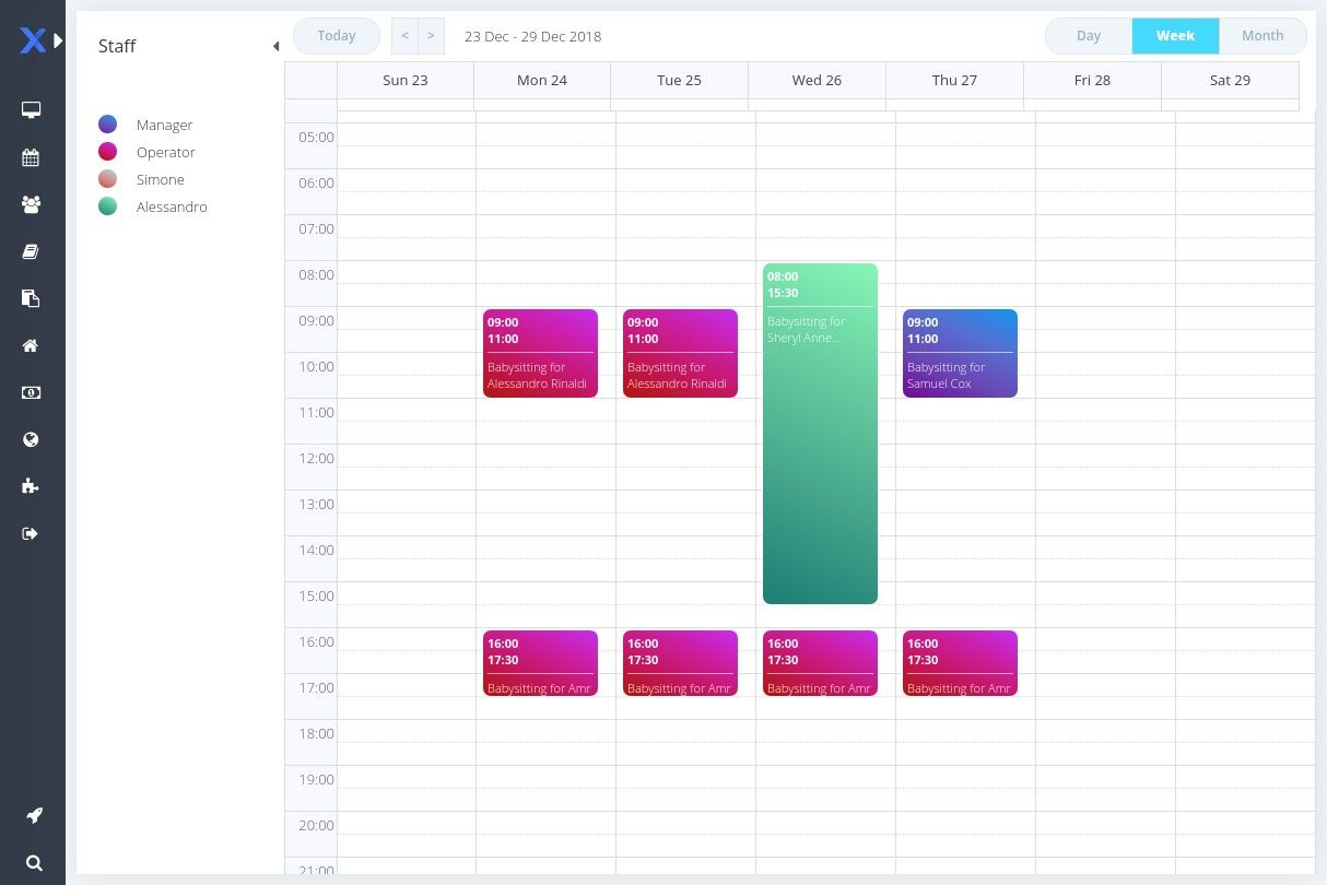 online scheduler for dog walking business