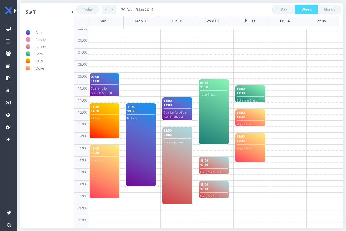 online scheduler for personal trainers