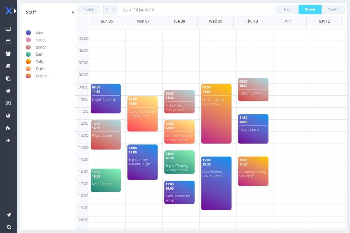 online scheduler for tutoring business