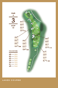 Lakes Course - hål 3