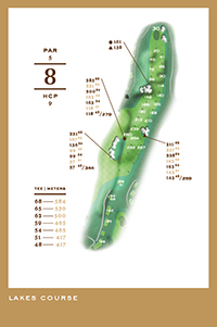 Lakes Course - hål 8