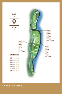 Lakes Course - hål 9