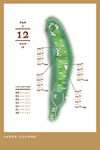 Lakes Course - hål 12