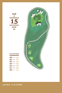 Lakes Course - hål 15