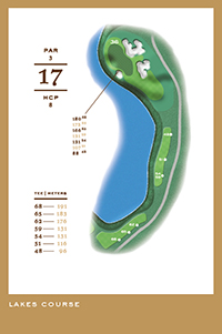 Lakes Course - hål 17