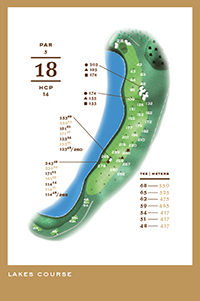 Lakes Course - hål 18