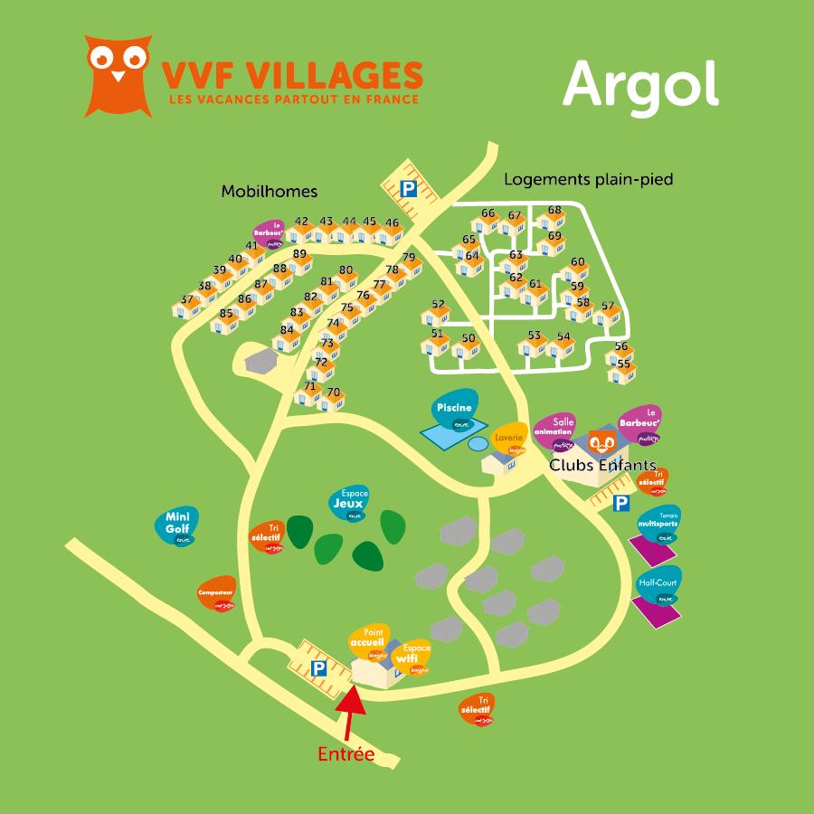 Plan du village de Argol