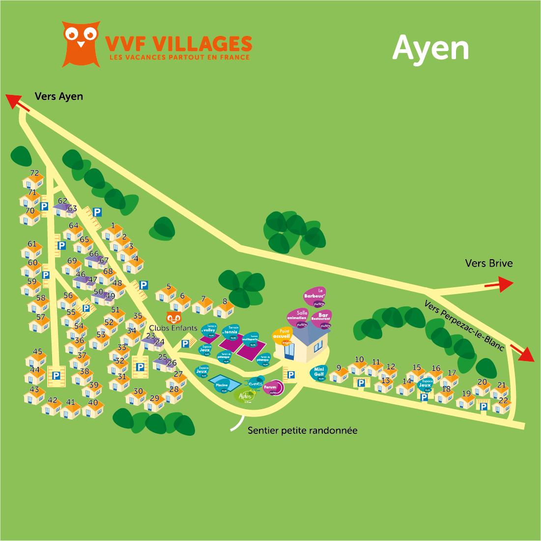 Plan du village de Ayen