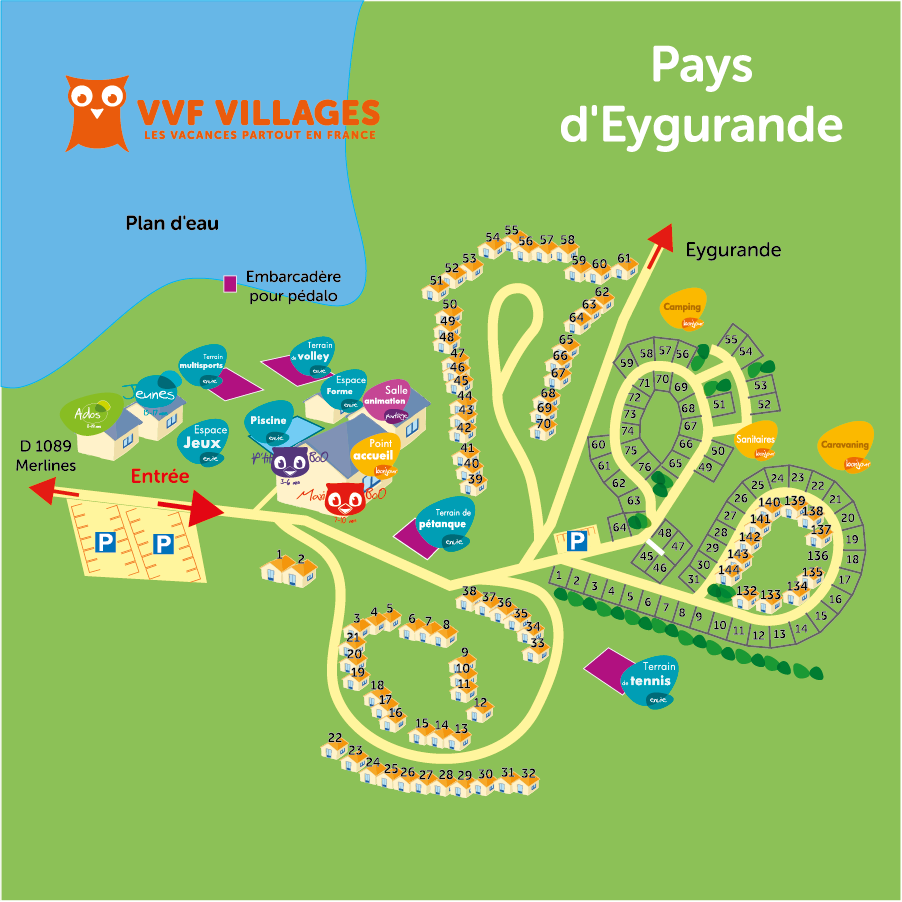 Plan du village de Pays d'Eygurande
