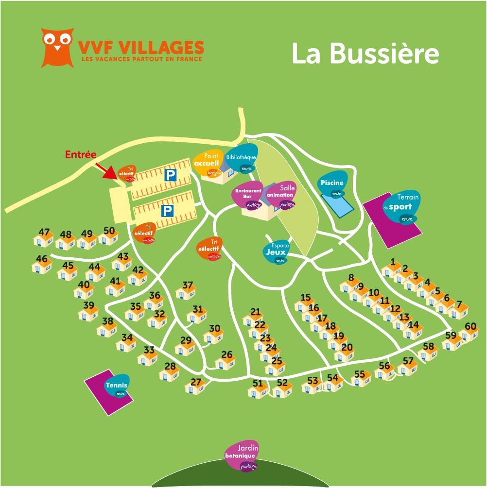 Plan du village de La Bussière