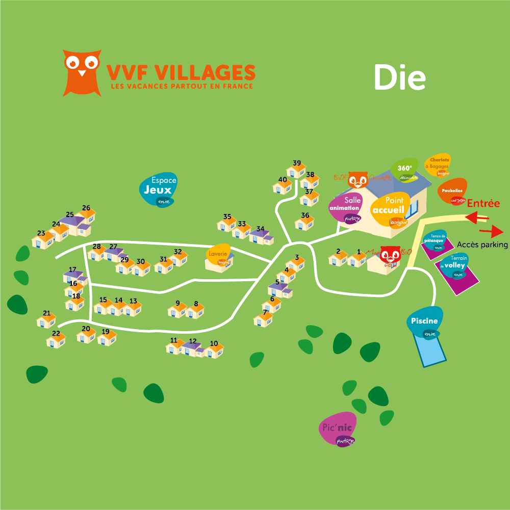 Plan du village de Die