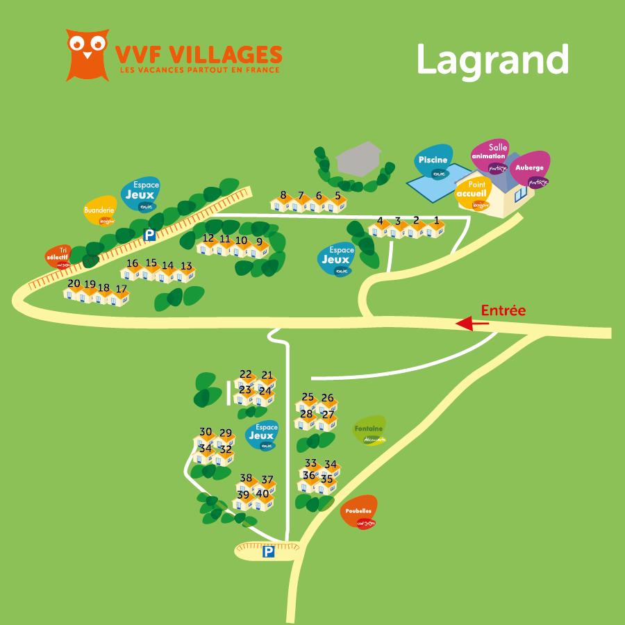 Plan du village de Lagrand