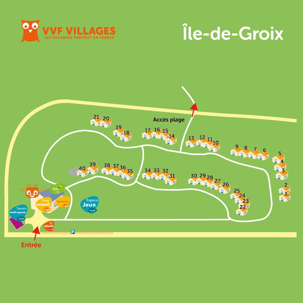 Plan du village de Groix