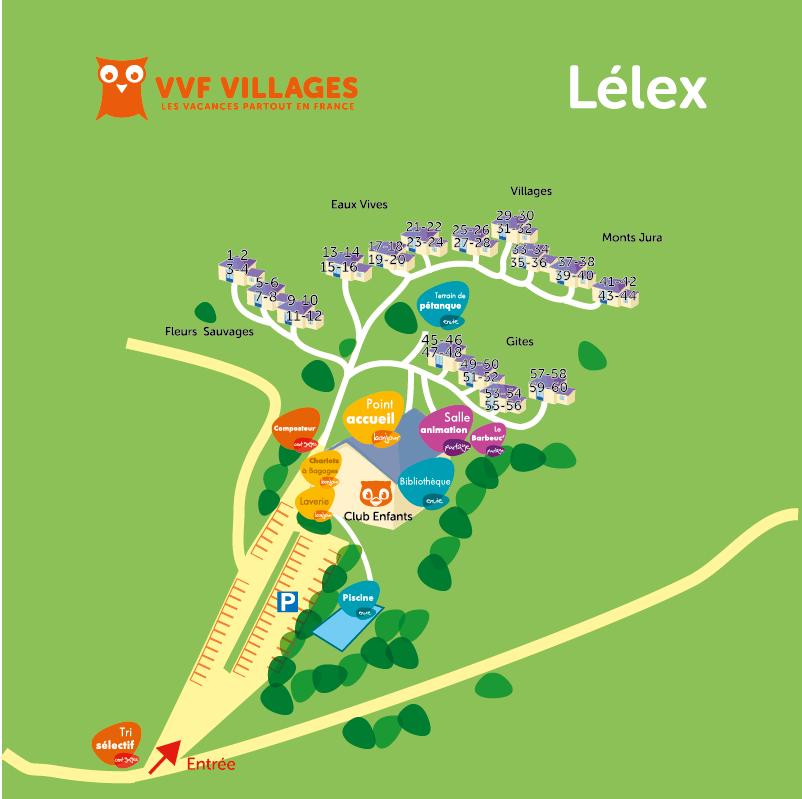Plan du village de Lelex