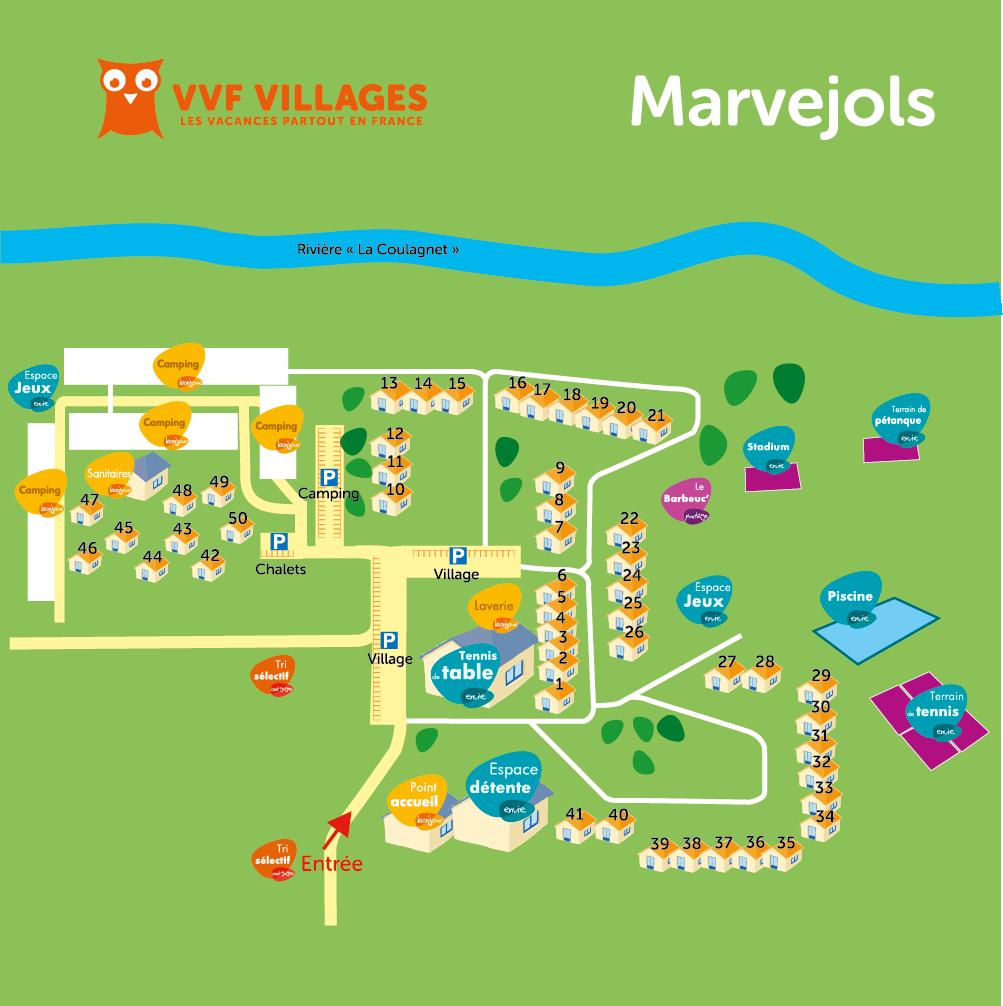 Plan du village de Marvejols