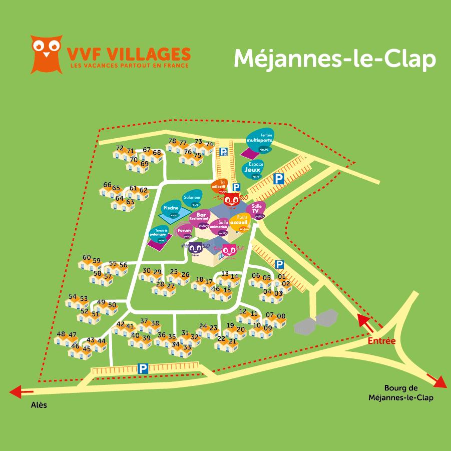 Plan du village de Méjannes-le-Clap