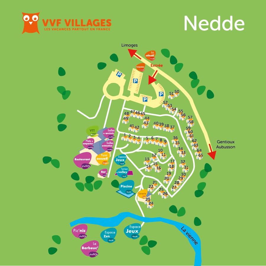 Plan du village de Nedde
