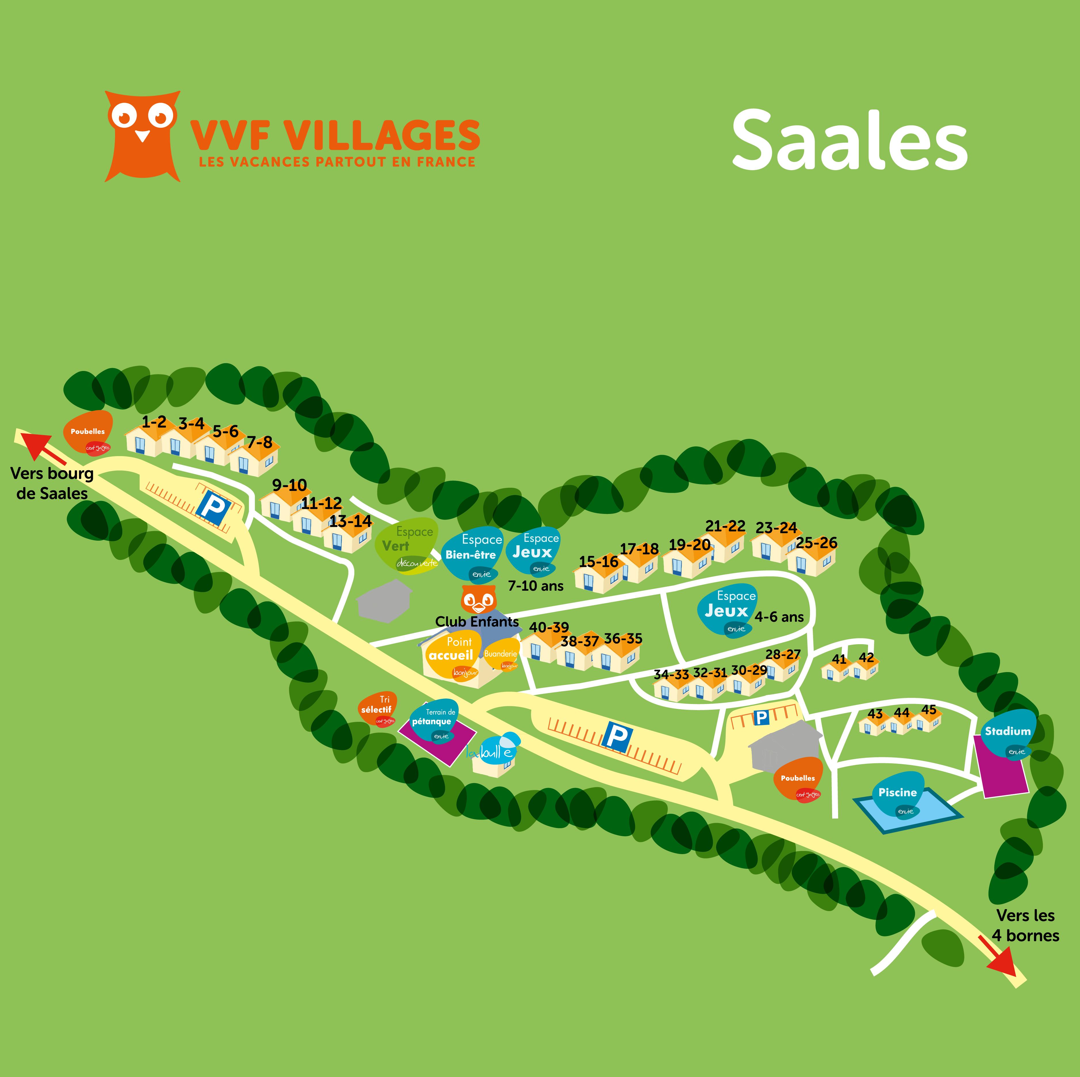 Plan du village de Saales