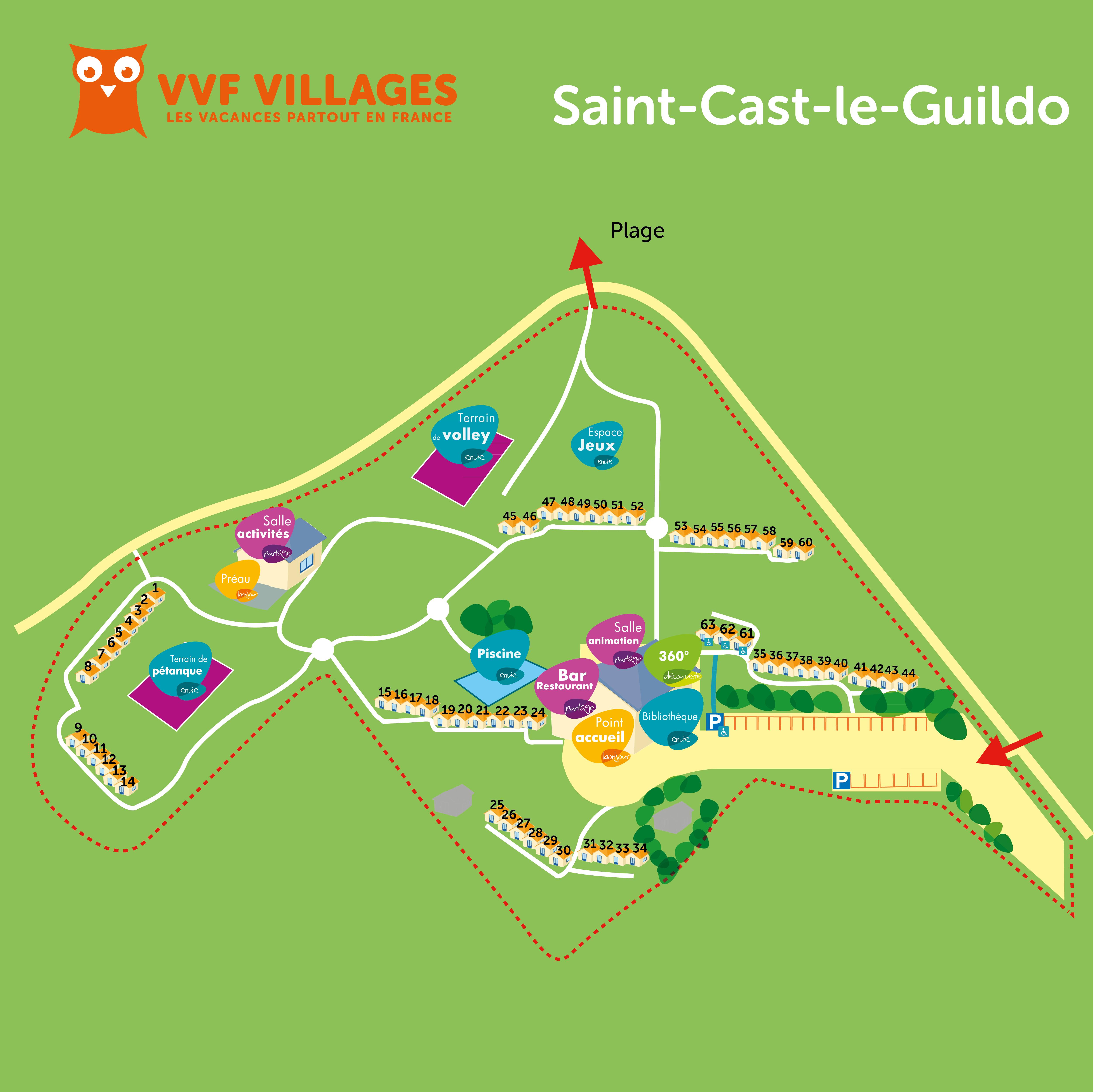 Plan du village de Saint-Cast-le-Guildo
