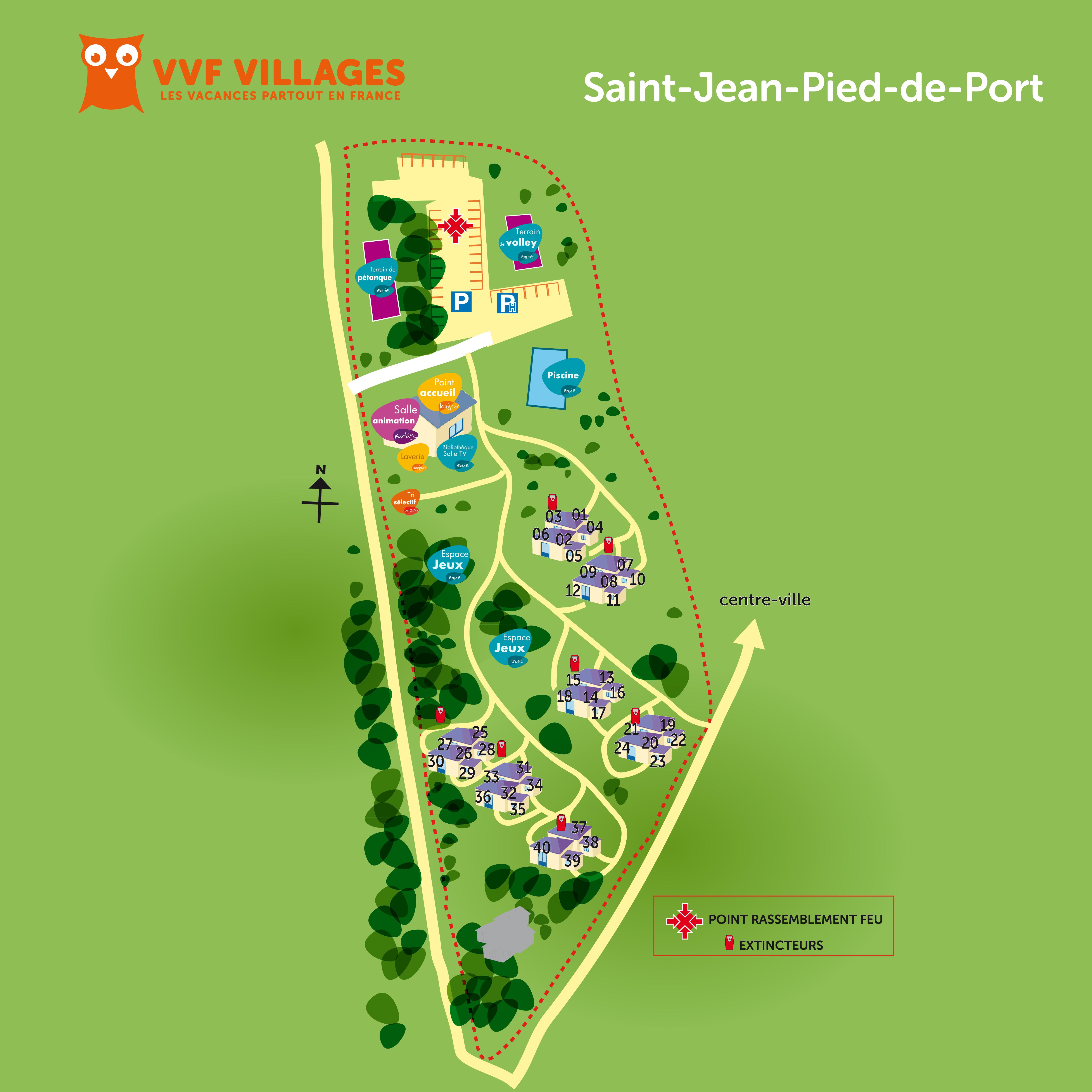 plan du village de saint jean pied de port