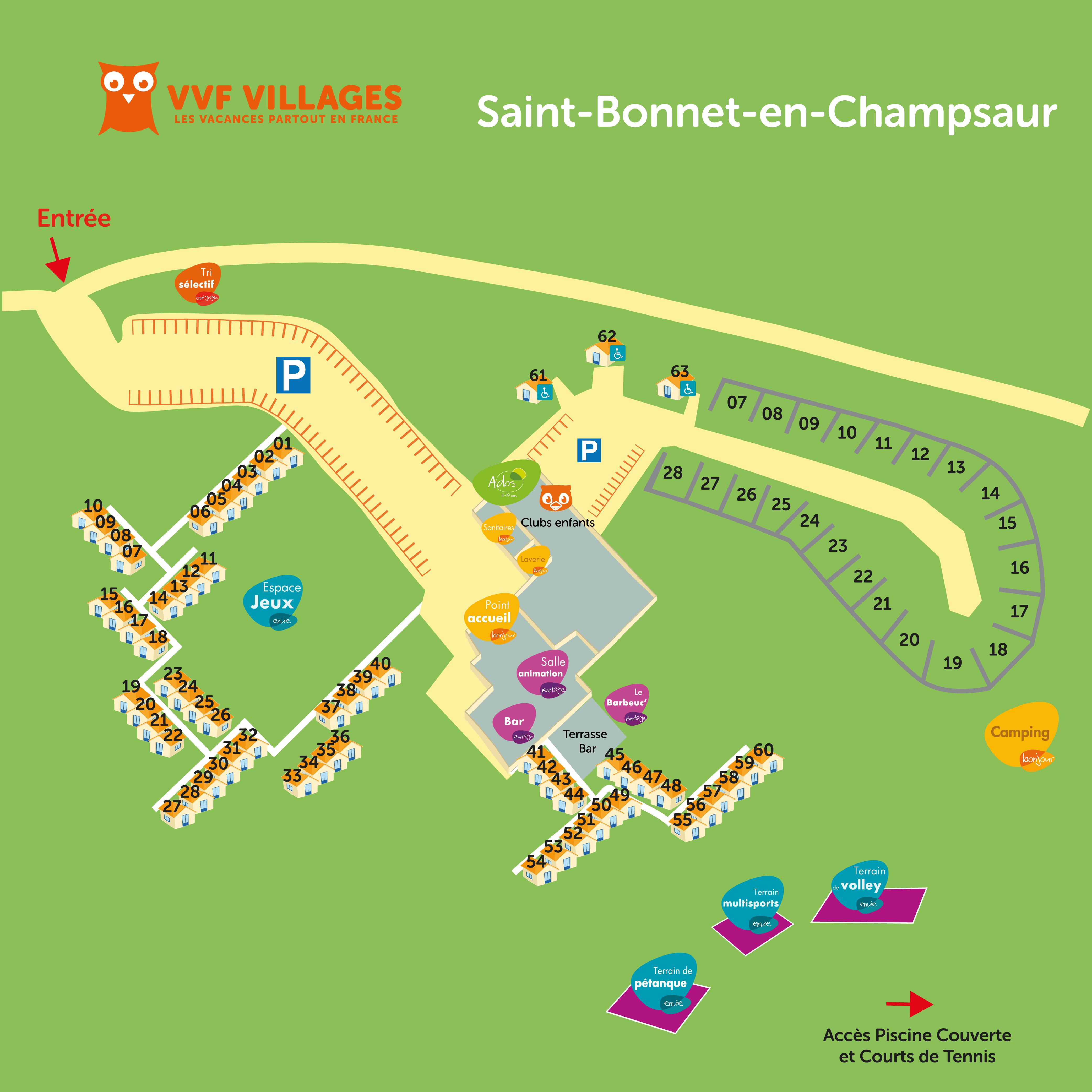 Plan du village de Saint-Bonnet-en-Champsaur