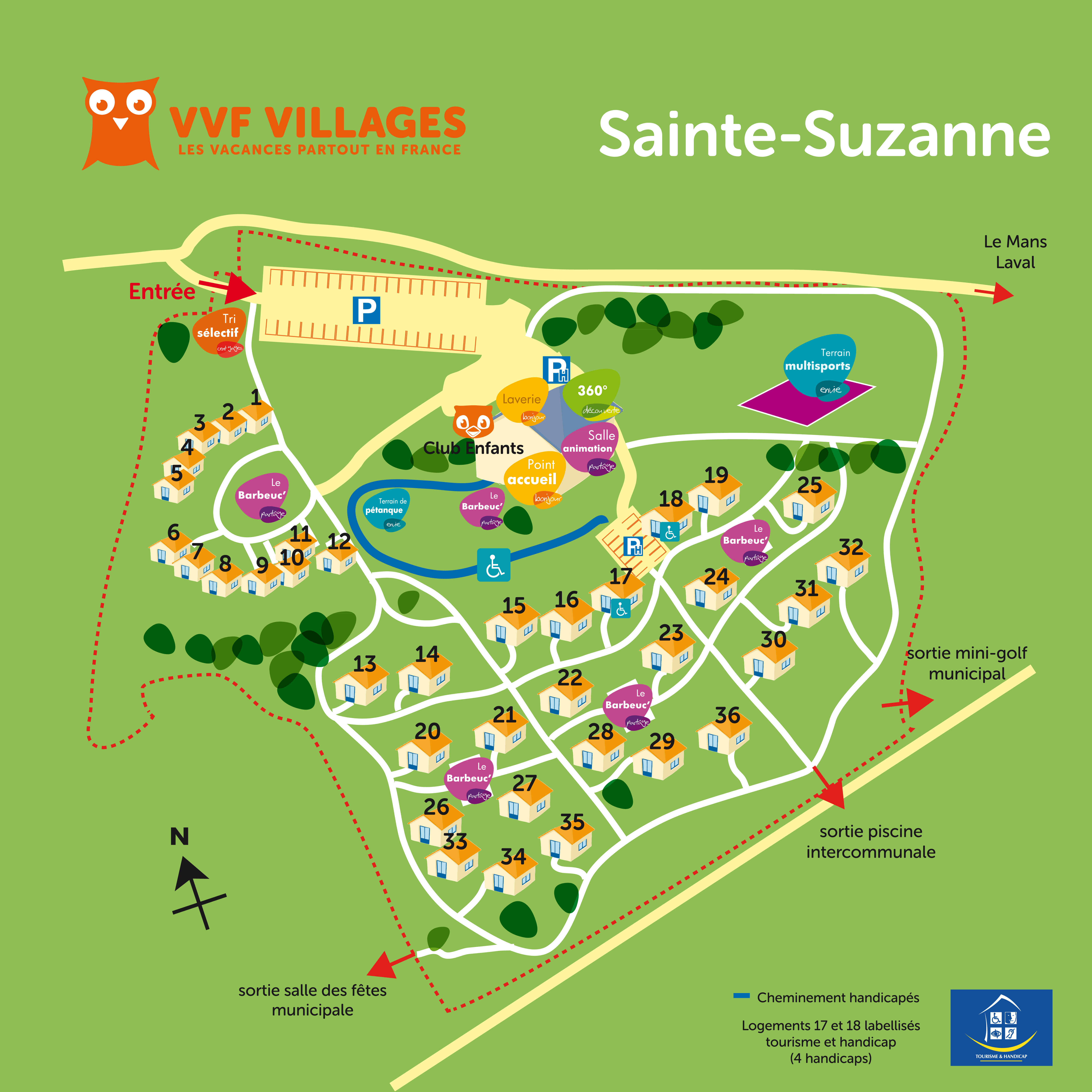 Plan du village de Sainte-Suzanne