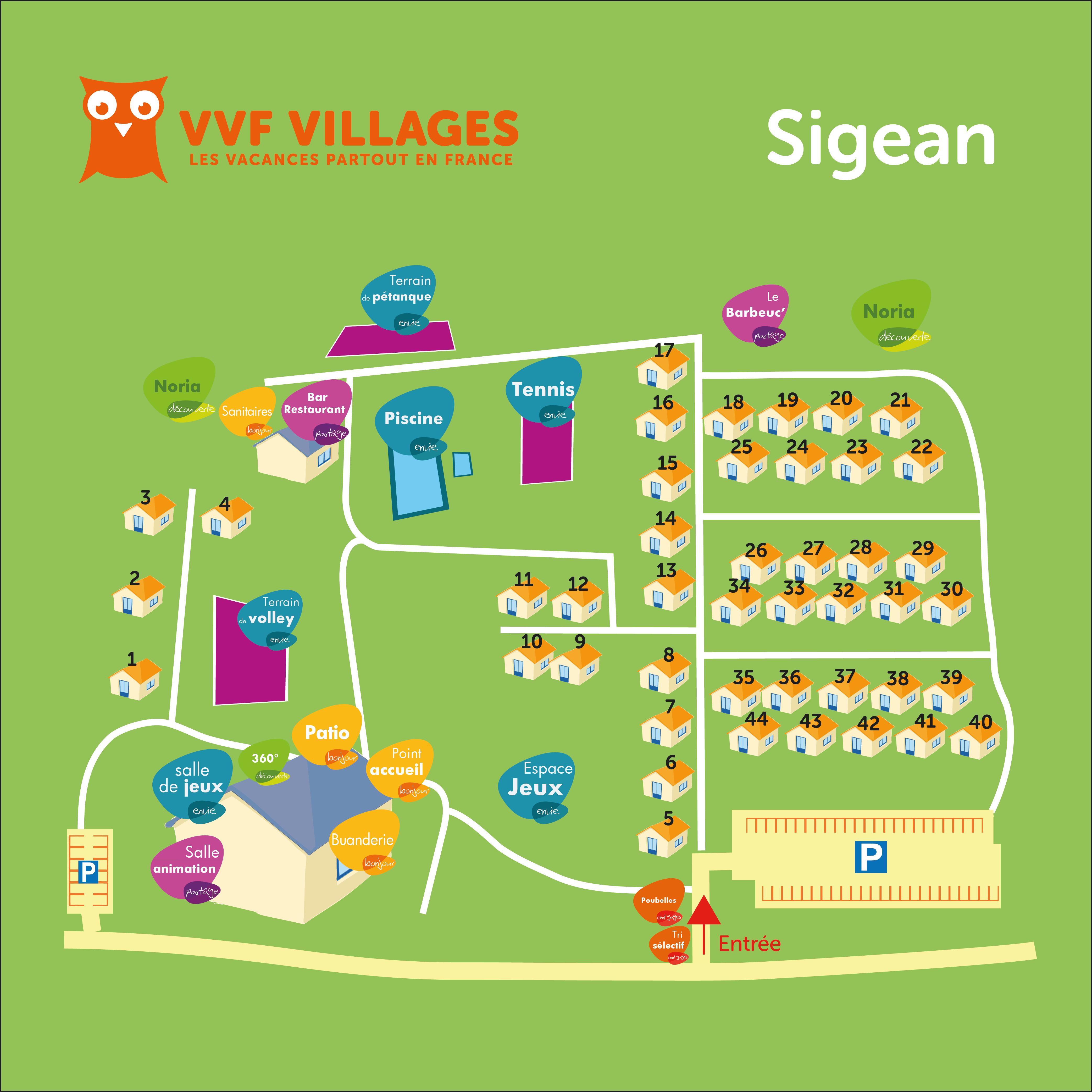 Plan du village de Sigean
