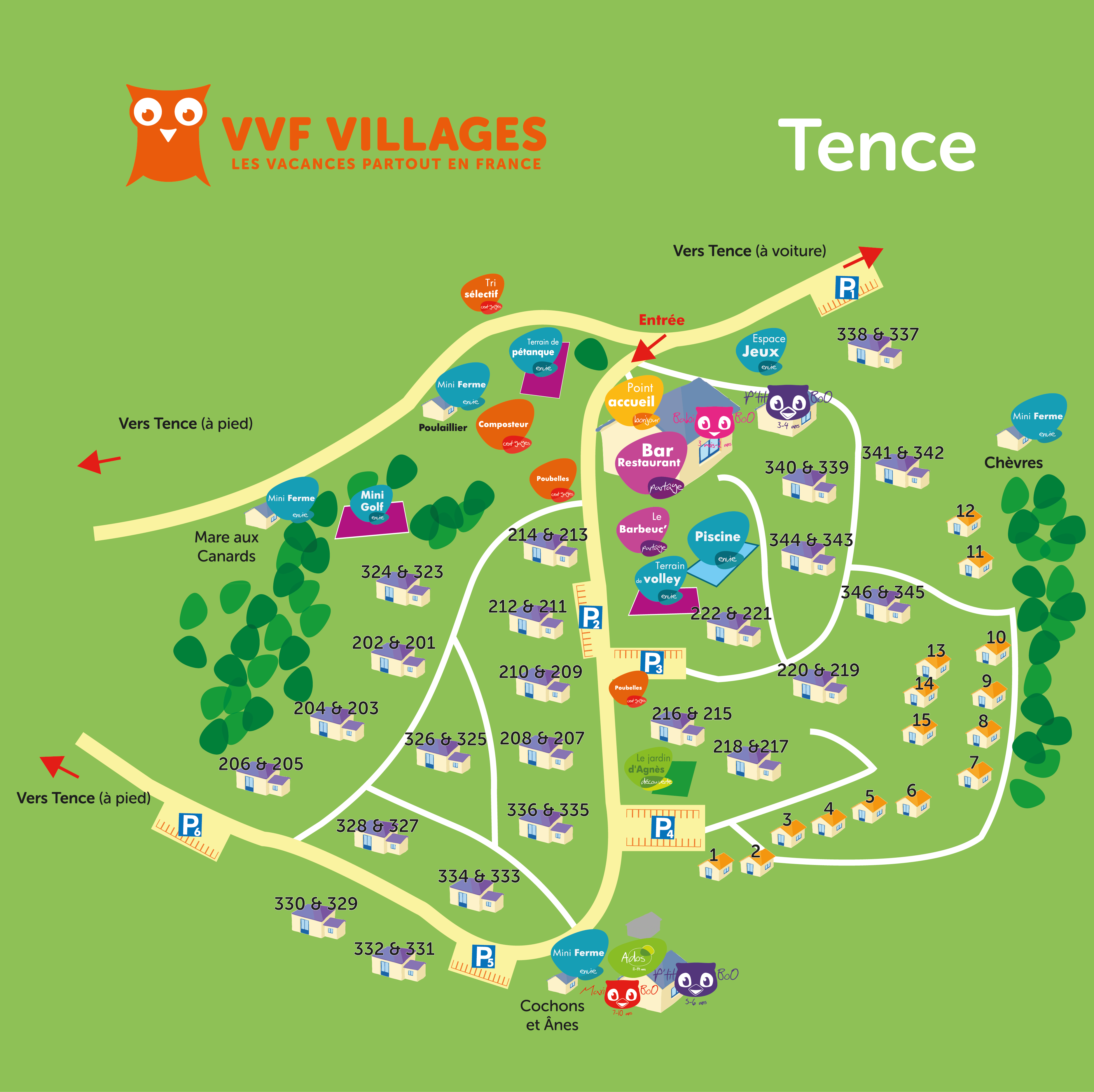 Plan du village de Tence