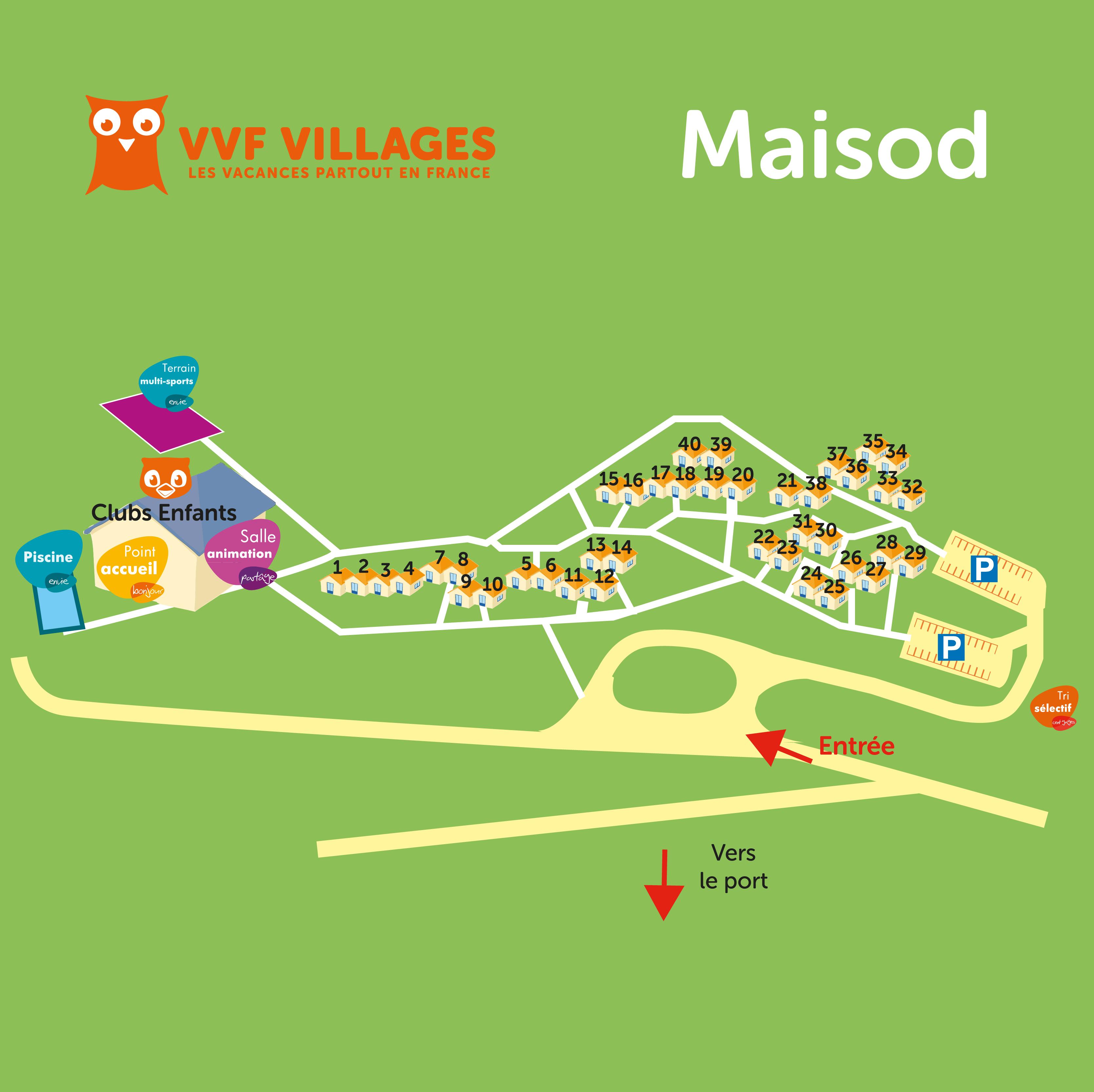 Plan du village de Maisod Lac de Vouglans