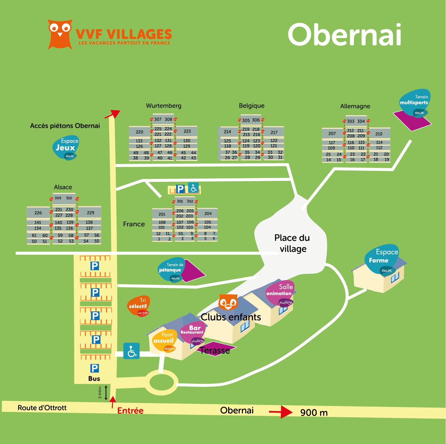 Plan du village de Obernai