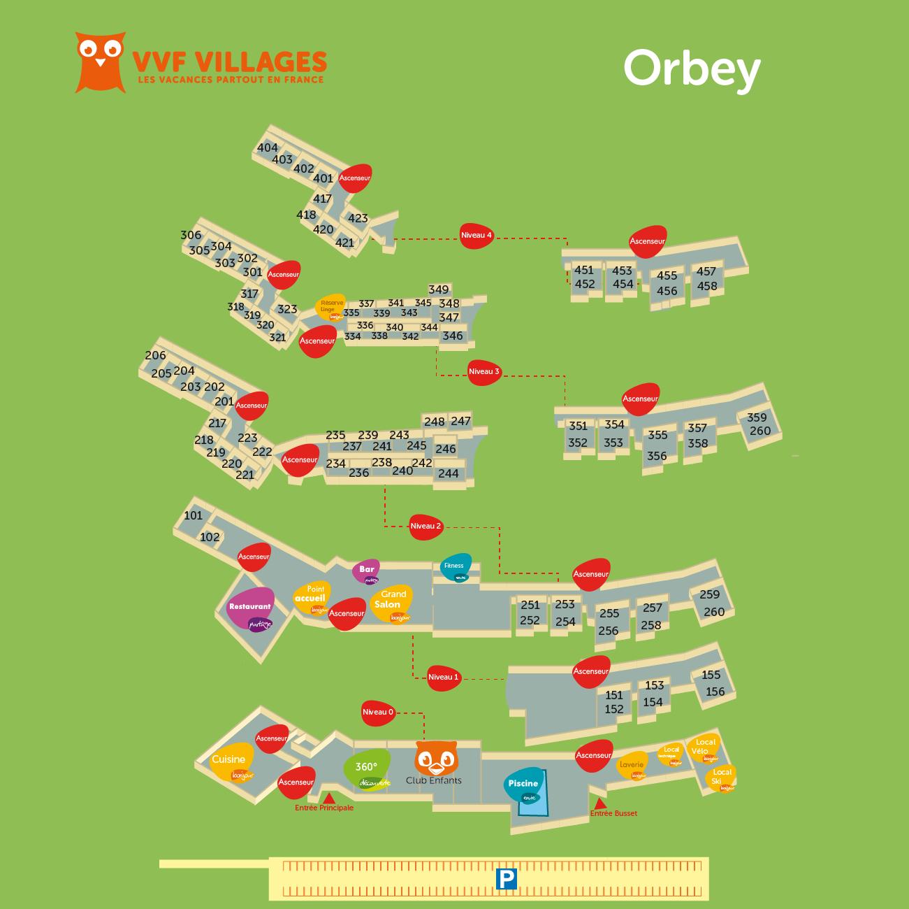 Plan du village de Orbey