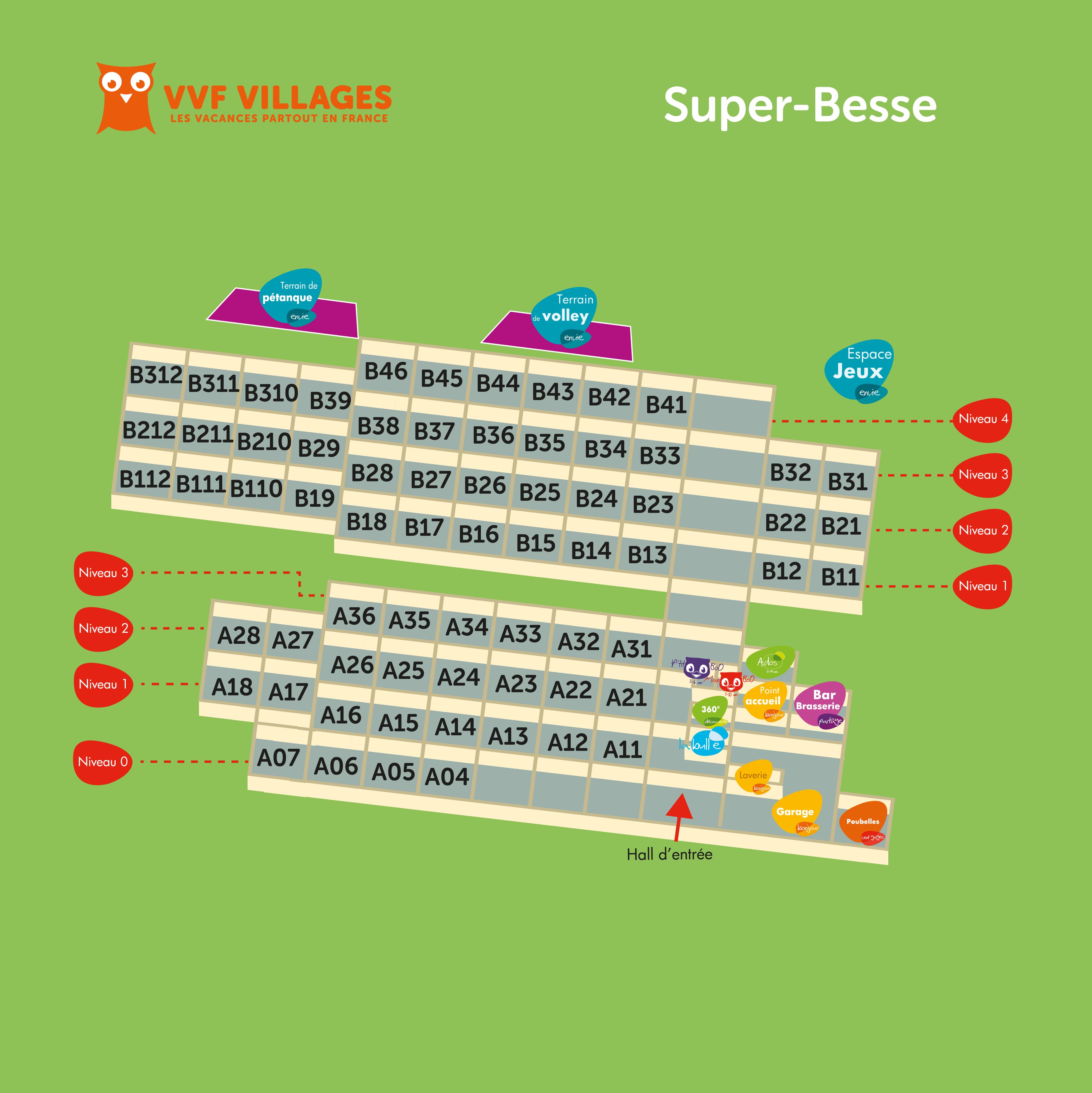 Plan du village de Super-Besse