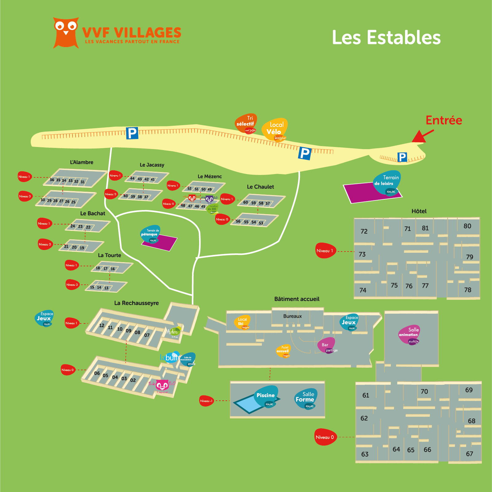 Plan du village de Les Estables
