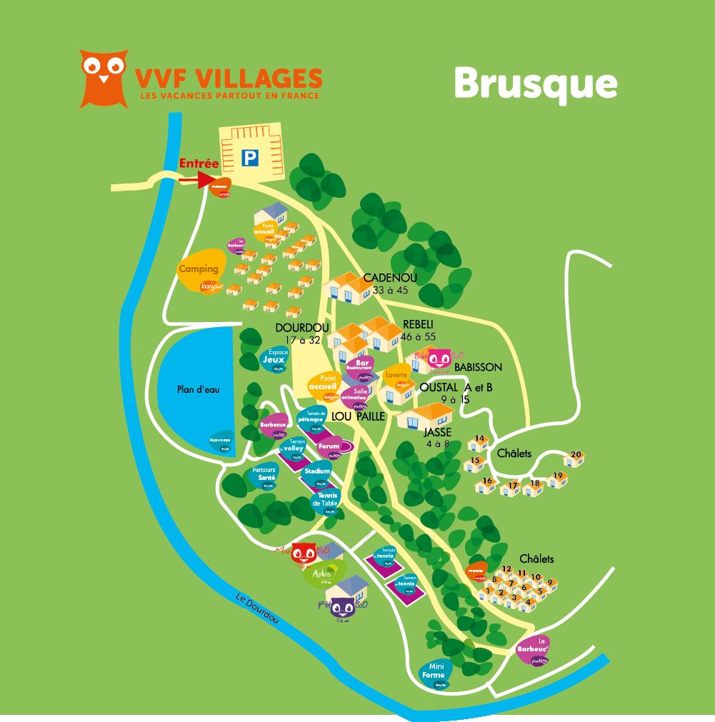Plan du village de Brusque