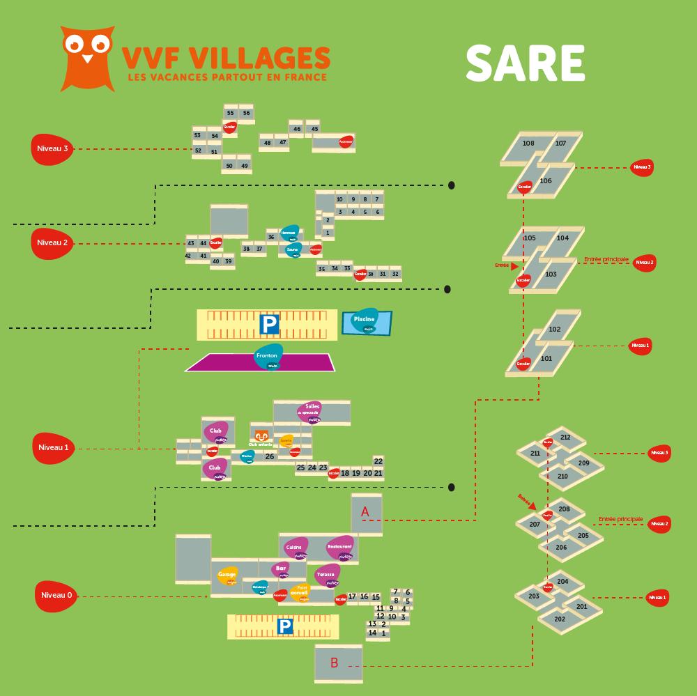 Plan du village de Sare