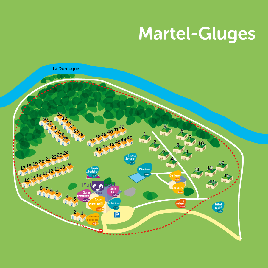 Plan du village de Martel-Gluges