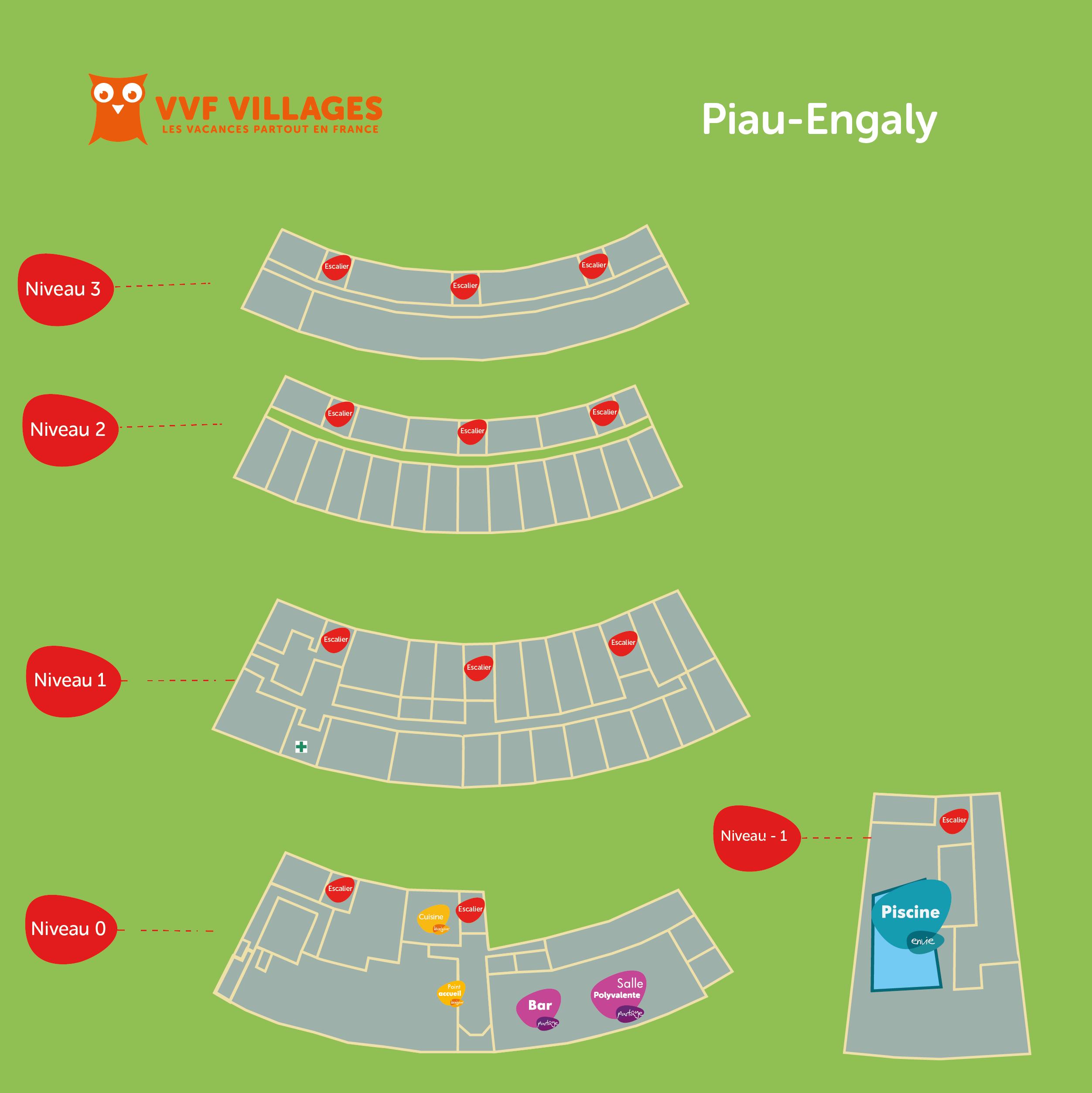 Plan du village de Piau-Engaly