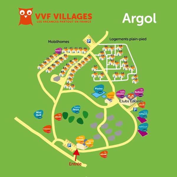 Plan du village de Argol