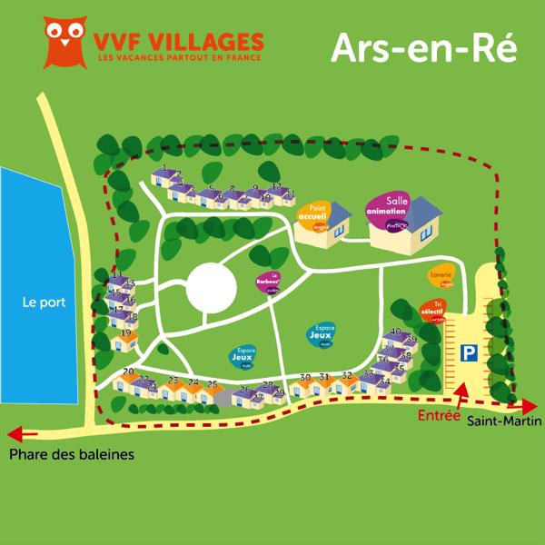 Plan du village de Ars-en-Ré