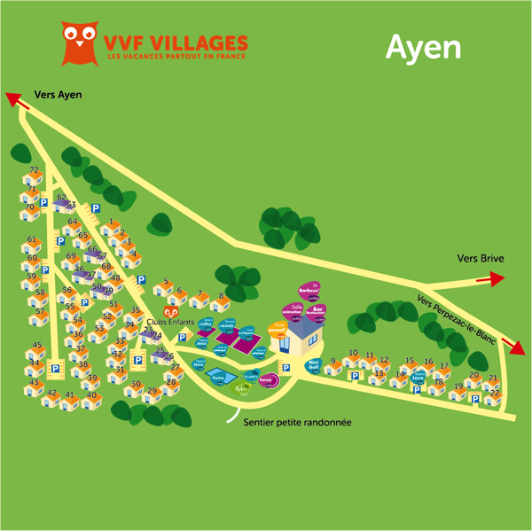 Plan du village de Ayen