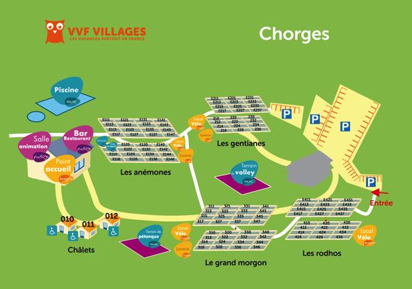 Plan du village de Chorges