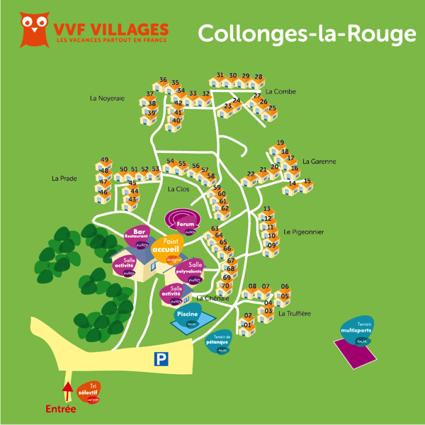 Plan du village de Collonges-la-Rouge