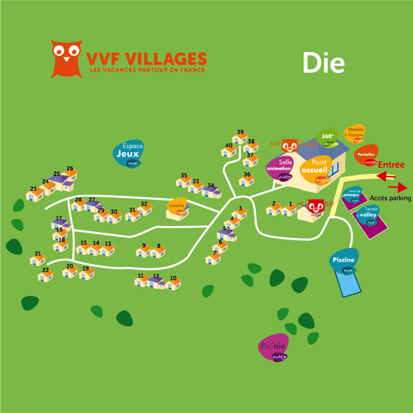 Plan du village de Die