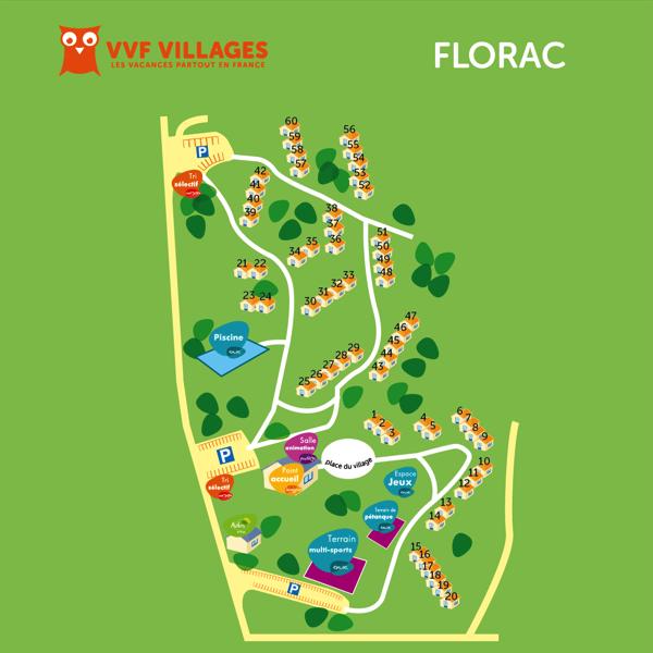 Plan du village de Florac
